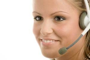 Image of sales representative with headset